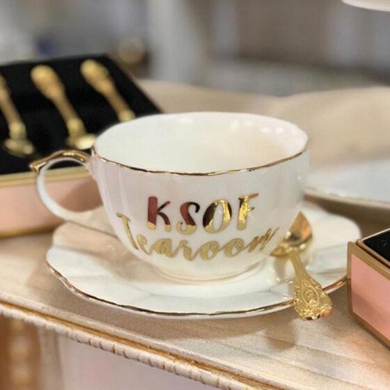 Gold Tea Cup and Saucer