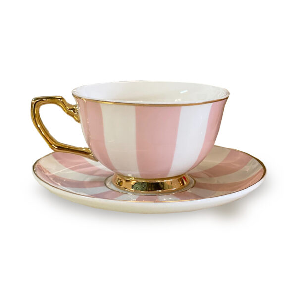 Cristina Re Stripe Blush Tea Cup